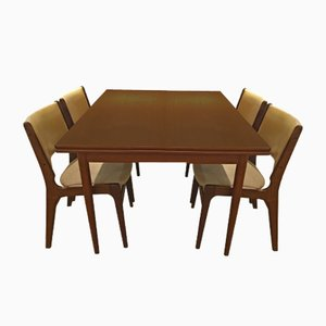 Danish Teak Dining Table & Chairs Set by Erik Buch, 1960s
