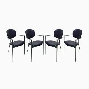 Model Andrea Chairs by Josep Llusca for Andreu World, 1986, Set of 4