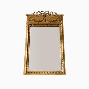 Espejo trumeau dorado con marco de gesso