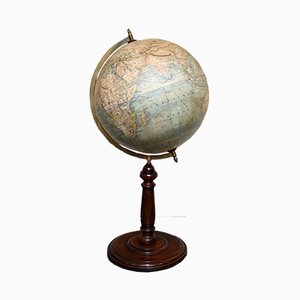 Antique German Terrestrial Globe, 1868
