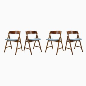 Danish Oak and Teak Dining Chairs by Henning Kjærnulf, 1960s, Set of 4