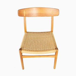 Danish Oak and Teak Dining Chair by Hans J. Wegner for Carl Hansen & Søn, 1950s