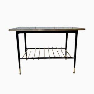 Tavolino da caffè Mid-Century in ottone e metallo, anni '50