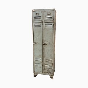 Mid-Century Industrial French Iron Wardrobe, 1960s