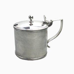 Pot à Moutarde Antique en Argent par William Abdy II