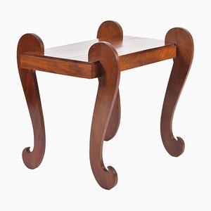 Table d'Appoint Art Déco Vintage en Acajou, France, 1930s