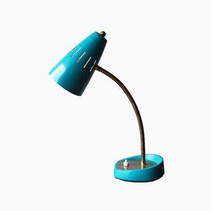 Lámpara de mesa belga Mid-Century de latón y acero, años 60