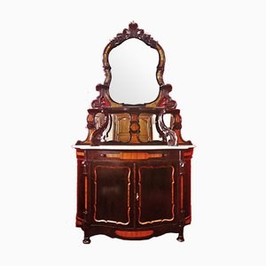 Antique Italian Wood and Marble Sideboard