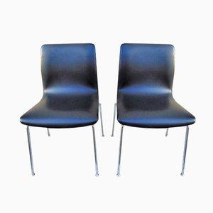 Moderne italienische Vintage Esszimmerstühle mit Sitz aus Öko-Leder von Castelli/Anonima Castelli, 2er Set