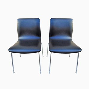 Vintage Italian Modern Eco-Leather Dining Chairs from Castelli/Anonima Castelli, Set of 2