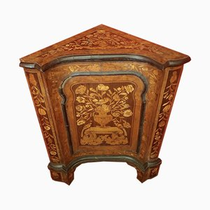Antique Cherry, Rosewood, and Walnut Inlaid Console Table