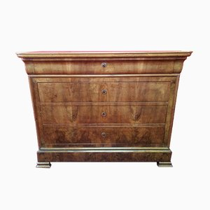 Antique French Walnut Veneered Dresser