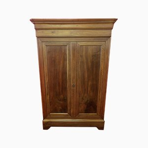 Antique Italian Inlaid Elm Wardrobe
