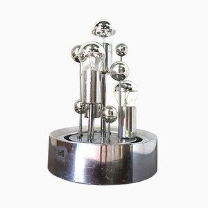 Deutsche Space Age Tischlampe aus Aluminium von Doria Leuchten, 1960er