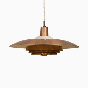 Lámpara de techo danesa escandinava moderna de cobre, años 70