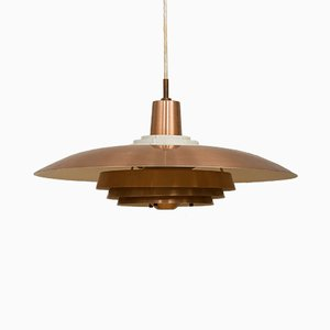 Scandinavian Modern Danish Copper Ceiling Lamp, 1970s