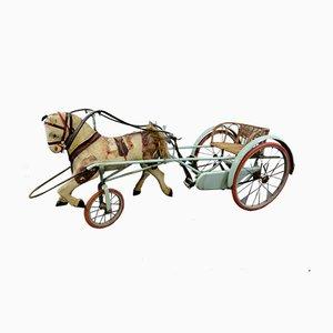 Italienische Dreiradkutsche mit Spielzeugpferd, 1930er