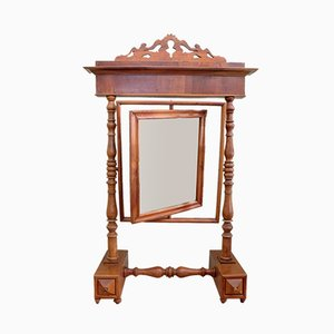 Antique Italian Walnut Mirror