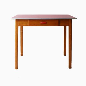 Mid-Century Beech and Steel Dining Table, 1960s