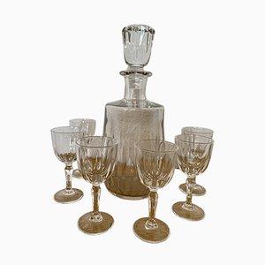 Französisches Geschirr aus geschliffenem Glas von Baccarat, 1940er