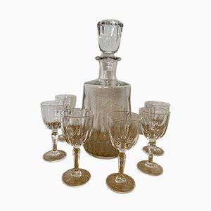 French Cut Glass Set from Baccarat, 1940s