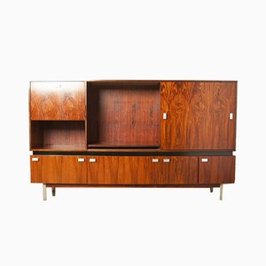 Mid-Century Aluminum and Rosewood Sideboard, 1960s
