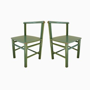 Scandinavian Modern Wooden Children's Chairs, 1960s, Set of 2