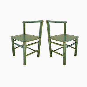 Scandinavian Modern Wooden Children's Chairs, 1960s, Set of 2
