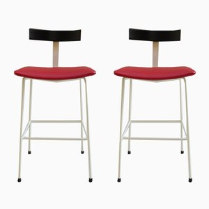 Steel Stools by Frank Guille for Kandya, 1960s, Set of 2