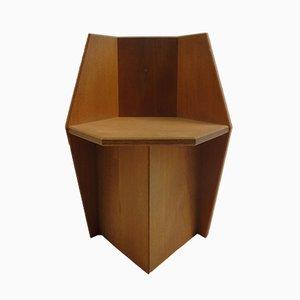 Vintage Beistellstuhl aus Eiche von S. Fenney, 1980er