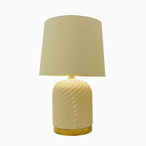 Lampe de Bureau en Laiton et Céramique par Tommaso Barbi, Italie, 1960s