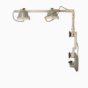 Lámpara de mesa industrial vintage de acero, años 70