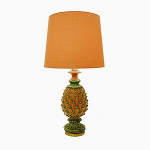 Lámpara de mesa vintage de cerámica, años 70