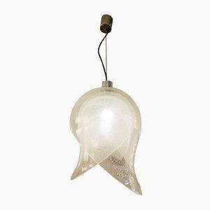 Italienische Deckenlampe aus Glas von Carlo Nason für Mazzega, 1960er