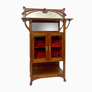Vintage Art Nouveau Style Mahogany Cabinet, 1920s