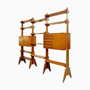 Mid-Century Italian Wooden Shelf, 1960s