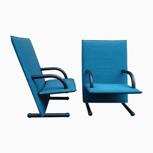 T-Line Armchairs by Burkhard Vogtherr for Arflex, 1980s, Set of 2