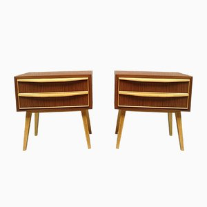 Tables de Chevet Mid-Century en Bois, Danemark, 1960s, Set de 2