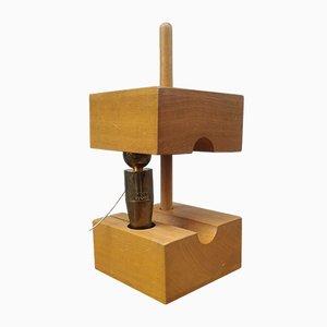 Skulptur aus Metall & Holz von Gio Pomodoro, 1970er