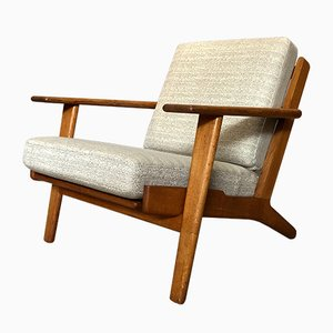 Danish Oak GE290 Lounge Chair by Hans J. Wegner for Getama, 1950s