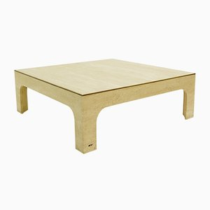 Travertine Coffee Table by Willy Rizzo, 1970s