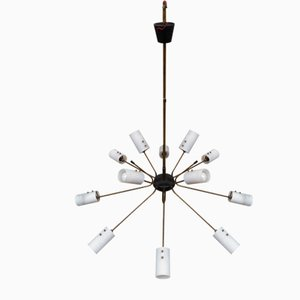 Mid-Century 12-Light Chandelier, 1950s