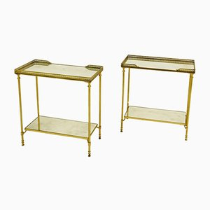 Tables d'Appoint en Métal de Maison Jansen, 1970s, Set de 2