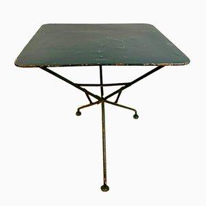 Table de Jardin Antique en Fer Forgé Peint, Angleterre