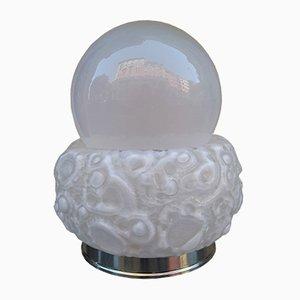 Tischlampe aus Glas & Metall von Mazzega, 1970er