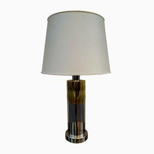 Lampada da tavolo Mid-Century in metallo di Willy Rizzo, anni '60