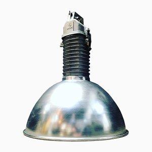 Lámpara de techo industrial francesa de aluminio y metal de Philips, años 50