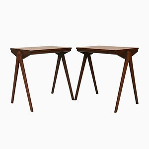 Tables de Chevet Mid-Century, 1970s, Set de 2