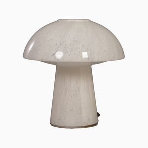 Lampada da tavolo a fungo in vetro opalino di Glashütte Limburg Leuchten, anni '70