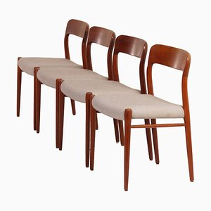 Danish Dining Chairs by Niels Otto Moller for J.L. Møller, 1950s, Set of 4